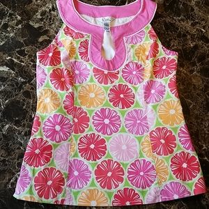 Lilly Pulitzer Sz 8 tank top- Juice Stand flowers